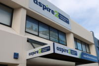 Aspire2 International Tauranga Campus from Durham Street